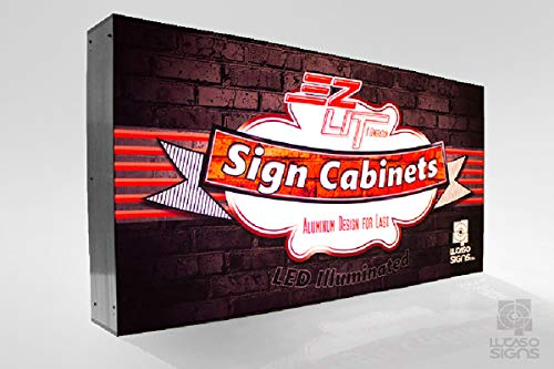 Sign for Business Store Front LED Illuminated Light Box with Custom Graphics Outdoor Commercial Grade (48