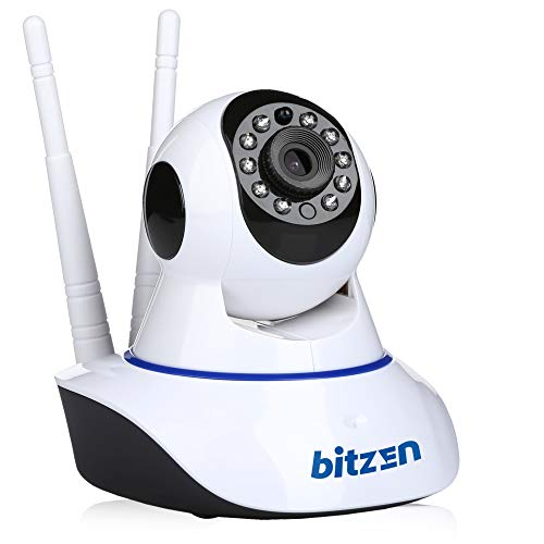 Bitzen IP Wireless Home Security Camera – Mountable Full Color Motion Detection 1080p Full HD WiFi Indoor Dome Surveillance Camera – Night Vision Two Way Audio Video Baby Monitor System