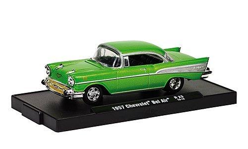 Chevrolet Bel Air Tuning, met.-green , 1957, Modellauto, Ready-made, M2 Machines 1:64 ()