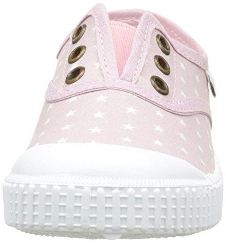 Victoria Inglesa Estrellas Elast. - Zapatillas de Deporte Unisex Niños Rosa - Rose (42 Rosa)