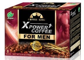- X-Power Coffee for Men Instant Tongkat Ali Ginseng Coffee All Natural Male Enhancement Energy Boosting, 8 Bags