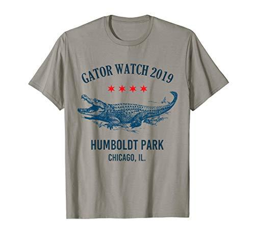 Gator Watch 2019 Humboldt Park Chicago Rad Lagoon Alligator  T-Shirt