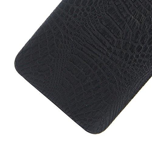 YAJIE-Carcasa Funda Para Xiaomi Redmi Note 4 Case, patrón de la piel de cocodrilo clásico de lujo [Ultra delgado] Cuero de la PU Anti-scratch PC funda protectora de la caja dura para Xiaomi Redmi Note Black