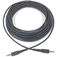 40ft 3.5mm TRRS Male to Male 22 AWG Aux Cable