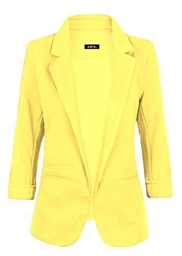 ATHX Women's Boyfriend Blazer (Large, - Dress Cropped Jacket Textured