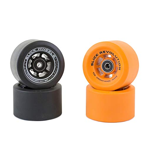 AJK Penny Style Smooth Skateboard Wheels 59mm 78a,with Bearing Retro Style Perfect For Plastic Cruiser Red