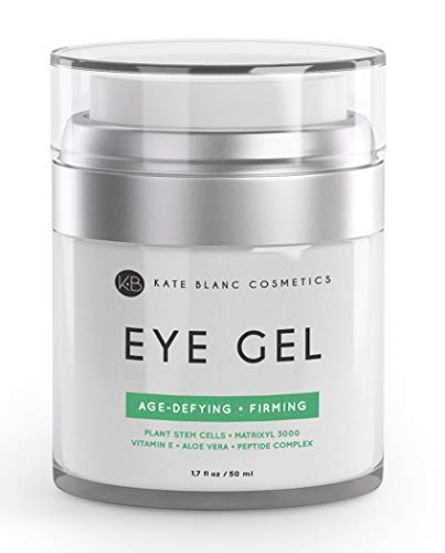 Eye Gel for Dark Circles by Kate Blanc. Reduce Appearance of Puffiness, Wrinkles, Crows Feet and Bags. Effective Age-Defying Gel for Under and Around Eyes. 1-Year Guaranteed.