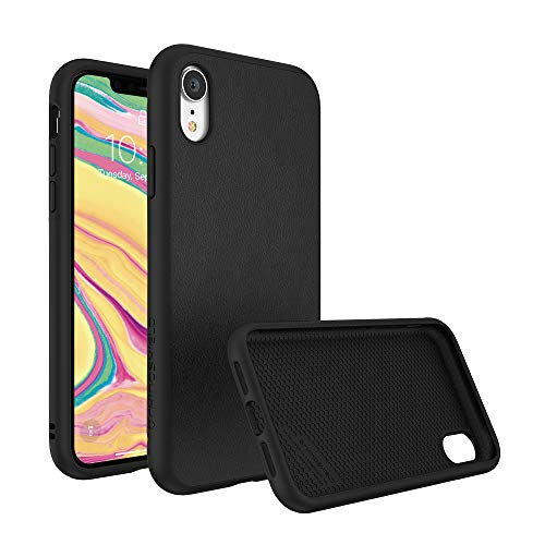 RhinoShield Ultra Protective Phone Case [iPhone XR]   SolidSuit - Military Grade Drop Protection Against Full Impact, Supports Wireless Charging, Slim, Scratch Resistant - Leather