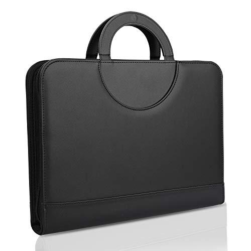 wilbest® porte documents en cuir multifonctionnel dossier de conférence de A4 avec la calculatrice et les poignées… 1