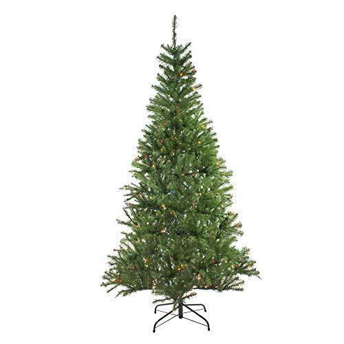(7' Pre-Lit Vail Spruce Medium Artificial Christmas Tree - Multi Lights)
