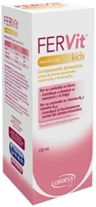Ordesa Fervit Solución Oral - 120 ml Complemento alimenticio para niños a base de hierro y vitaminas - 5 ml al día