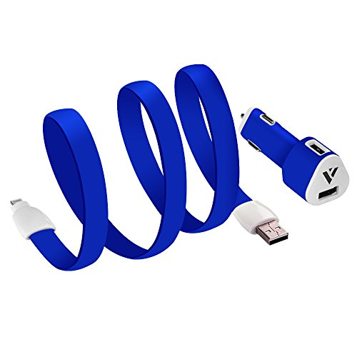 Bevena®Flat Ribbon Silicone Vehicle Power Charger with Micro USB Dual-charging 2.1A for Samsung Galaxy S5, S4, S3, S2,Samsung Galaxy Note 2, Note3,Note 4;Motorola Droid RAZR MAXX;HTC One X V S and Other Android Devices with Blister Packaging Available in Many Different Colors(Blue Color) 2.1a car charger car charger for samsung s2 droid maxx car charger droid razr maxx charger galaxy note 4 car charger motorola droid maxx charger samsung galaxy note 4 charger samsung galaxy s2 charger samsung galaxy s5 wireless charging samsung micro usb car charger samsung note 4 car charger