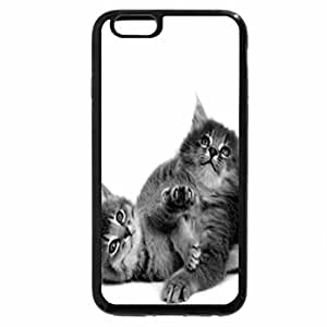 iPhone 6S Case, iPhone 6 Case (Black & White) - Two cute naughty
