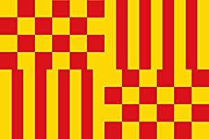 magFlags XL Flag Tàrrega Lleida, Catalonia, Spain | landscape flag | 2.16m² | 23sqft | 120x180cm | 4x6ft - 100% Made in Germany - long lasting outdoor flag