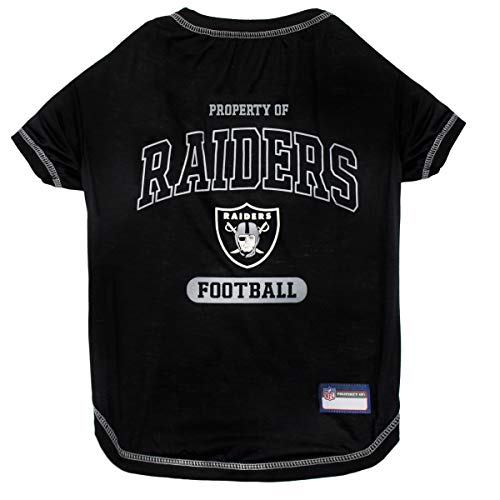 OAKLAND RAIDERS Dog T-Shirt, X-Small. - Cutest Pet Tee Shirt for the real sporty pup