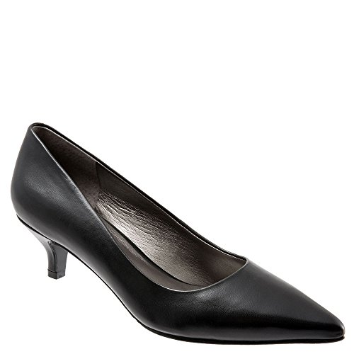 Trotters Womens Paulina Leather Pointed Toe Classic Pumps, Black, Size 9.0