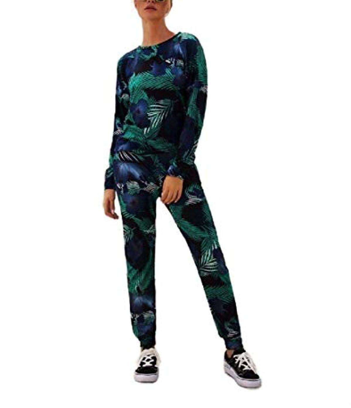 疑問を超えてリアルストロークsayahe 女性軽量ハーレムパンツ2pcsスリムフィットスポーツトラックスーツ