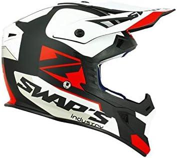 SWAPS Casco de moto Cross Blur S818 negro blanco rojo mate – Homologado ECE R22-05: Amazon.es: Deportes y aire libre