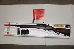 agm m14 airsoft aeg rifle bipod & scope wood(Airsoft Gun)