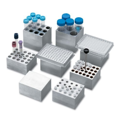 Labnet D1105A Aluminum Dry Bath Block for AccuBlock Digital Dry Bath, Holds 24 x 1.5ml Tube