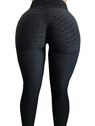 Meilidress Womens Ruched Butt Lifting Leggings High Waisted Grain Sport Tummy Control Gym Yoga Pants