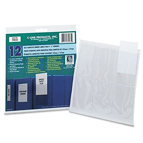 Amazon.com : NEW - Self-Adhesive Ring Binder Label Holders ...