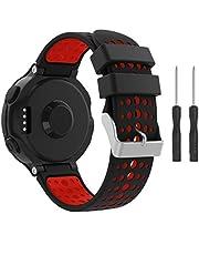 YaYuu Kompatibel Garmin Forerunner 235 Armband,Weiches Silikon Ersatz Uhrenarmbänd Einstellbar Uhrenband für Forerunner 235/220/230/620/630/735XT Smart Watch