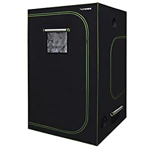 """VIVOSUN 60""""x60""""x80"""" Mylar Hydroponic Grow Tent with Observation Window and Floor Tray for Indoor Plant Growing 5'x5'"""