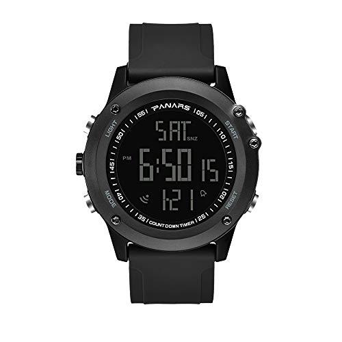 🥇 Clastyle Reloj Digital Natación para Hombres Deportivo Relojes de Pulsera Calendario Multifunción Relojes Cronómetro Grande con Correa de Silicona Negro