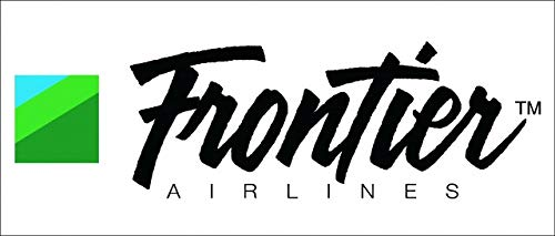 "FRONTIER Sticker 1Packs 1PC Rare, Exclusive, Collectible & Waterproof!! Laptop Travel Suitcase Decal Sticker for Luggage (About 20 x 8.8CM (7.87"" x 3.46""))"