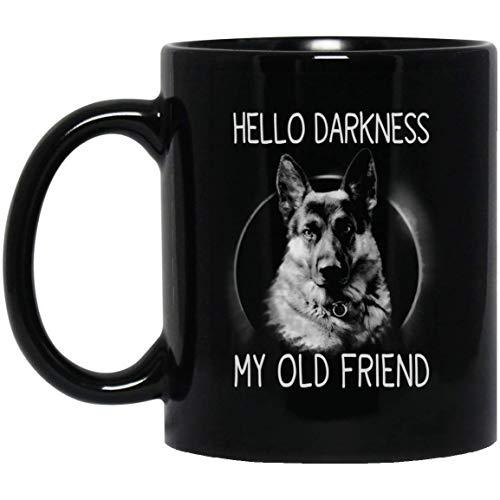 Halloween Hello Darkness My Old Friend Gsd Coffee Mug - 11oz Grade A Quality Ceramic Black Ceramic Mug/Cup - Gift For GSD Lovers -