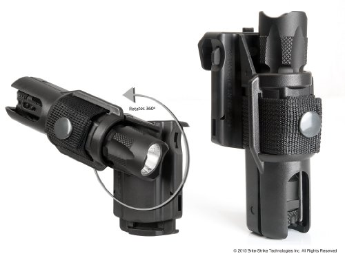 (Brite Strike ROTO-LOC Flashlight Holster, Fits Flashlights with a Bezel Width of 1.2″ and a Diameter of 1