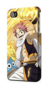 LJF phone case S1732 Fairy Tail Natsu Happy Case Cover For iphone 4/4s