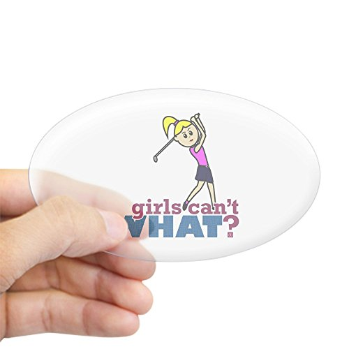(CafePress Girl Playing Golf Oval Bumper Sticker, Euro Oval Car)