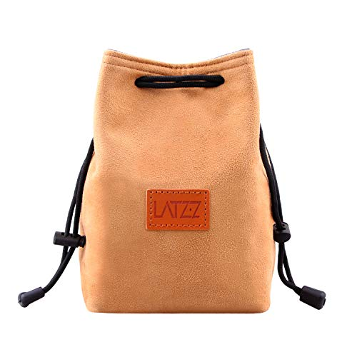 Camera Case, LATZZ Drawstring Bag, Vintage DSLR Camera Bag Soft Lens Case Gadget for Traveling and Canon Nikon Sony SLR Storage