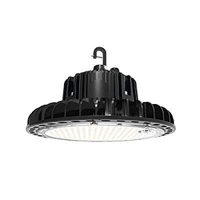 LED High Bay Lighting Fixture White 200W 30000 Lumens Output 5000K