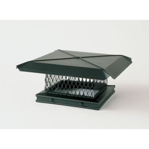 Chimney 13403 Gelco Black Galvanized Chimney Caps - .75in Mesh - 8 Inches x 13 Inches Gelco Black Galvanized Cap