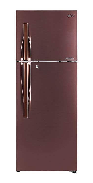 LG 335 L 4 Star Inverter Frost-Free Double-Door Refrigerator (GL-T372JASN, Amber Steel) Refrigerators at amazon