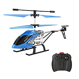 Mini RC Helicopter,EACHINE H101 Remote Control Helicopter Drone Toy for Kids 3.5 CH LED Light with Gyro