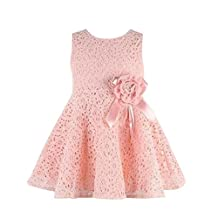 Changeshopping(TM)Girls Kids Full Lace Floral One Piece Dress Princess Party Dress