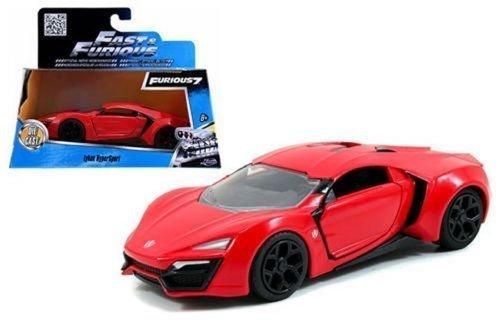 - Jada Toys New 1:32 W/B Fast & Furious 7 Red Lykan Hypersport Diecast Model Car