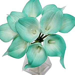 Angel Isabella, LLC 20pc Set of Keepsake Artificial Real Touch Calla Lily with Small Bloom Perfect for Making Bouquet, Boutonniere,Corsage (Spa Trimmed) 17