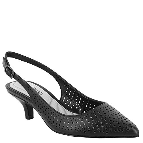 8e824e8217d Easy Street Women s Enchant Slingback Dress Pump on Kitten Heel Shoe