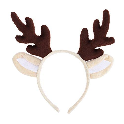 Make Deer Antlers Costume (Tinksky Reindeer Antler Hair Hoop Christmas Kids Headband Headwear for Children Christmas Costume Party)