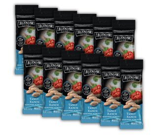 Legendary Foods Tangy Ranch Keto Almond Snacks 1.5 oz (Pack of 12) by Legendary Foods