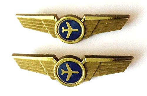Aviator Kids Airplane Pilot Wings Plastic Pins Pinbacks Badges Lot of 2