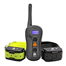 Dog Training Collar, 5ivepets Rechargeable Waterproof Beep / Shock / Vibration Collar for Training 2 Dogs 660yd Electronic Dog Remote Training Collar Fit for Small,Medium,Large Dogs