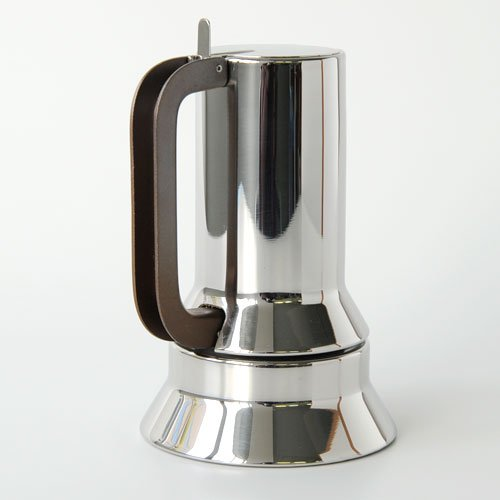 Alessi 9090/3 - Cafetera italiana de acero inoxidable brillo 18/10 con base magnética: Richard Sapper: Amazon.es: Hogar