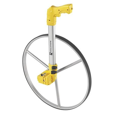 OKSLO Rolatape Measuring Wheel, Single, Plastic Aluminum, Yellow, RT50