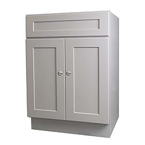"Shaker Gray 24"" x 21"" Bathroom Vanity Cabinet - - Amazon.com"